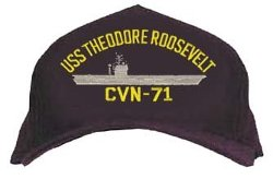Honors - USS Theodore Roosevelt CVN-71 Cap