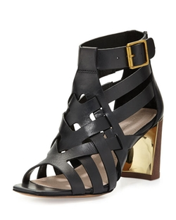 Pour La Victoire - Pandora Leather Cage Sandals