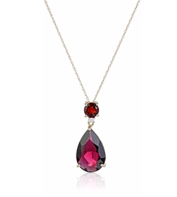 Amazon Collection - Gemstone Teardrop Pendant Necklace