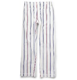 Sleepy Jones   - Regimental Striped Cotton Pajama Trousers
