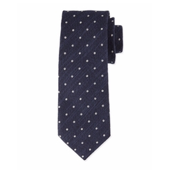 Tom Ford  - Textured Dot-Print Silk Tie