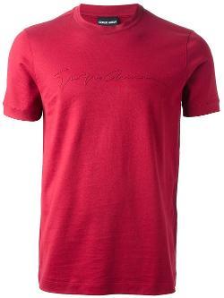 Giorgio Armani - Logo Print T-shirt