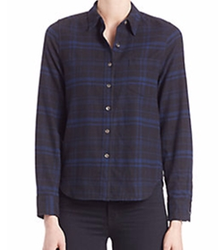 Equipment - Kate Moss For Equipment Landon Cotton Plaid Shirt