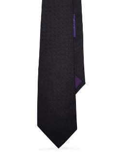 Ralph Lauren Purple Laber - Solid Silk Repp Tie