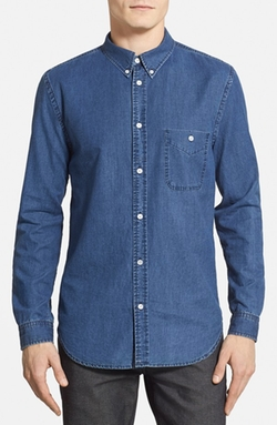 7 For All Mankind - Denim Chambray Oxford Sport Shirt