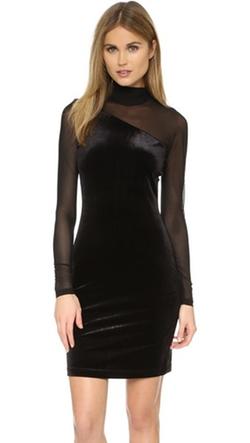 Ganni - Campbell Velour Dress