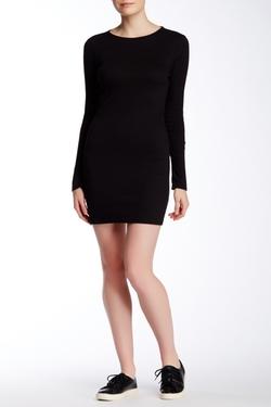 Everleigh - Long Sleeve Solid Bodycon Dress