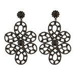 Kenneth Lane  - Rhinestone Chandelier Earrings