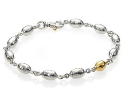 Gurhan - Curve Sterling Silver & Yellow Gold Bracelet