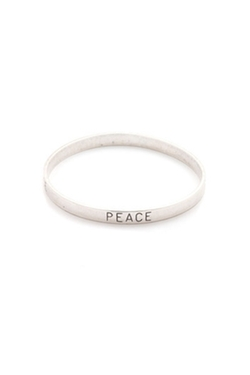 Top Shelf Jewelry - Peace Bangle Bracelet