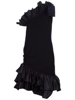 Yves Saint Laurent Vintage  - One Shoulder Ruffle Dress