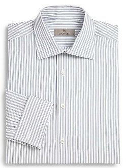 Canali Track  - Stripe Cotton Dress Shirt