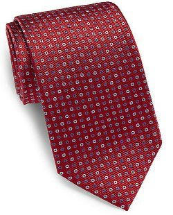Saks Fifth Avenue - Circle-Print Silk Tie