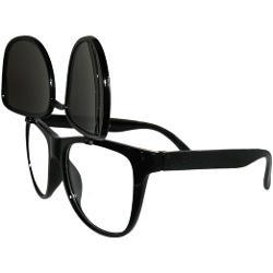 GirlPROPS  - Wayfarer Style Flip Up Glasses