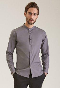 Forever 21 - Mandarin Collar Shirt