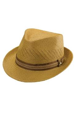 Tommy Bahama  - Perforated Panama Straw Fedora Hat