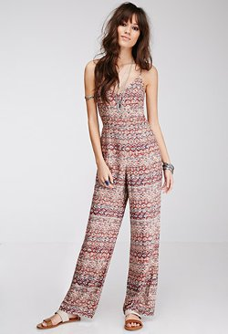 Forever21 - Southwestern-Printed Jumpsuit