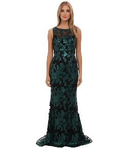 Badgley Mischka  - Sequin Lace Illusion Gown