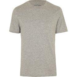 River Island - Grey Marl Crew Neck T-shirt
