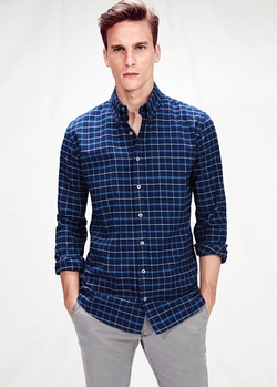 Mango - Check Twill Shirt