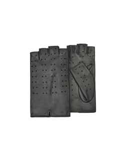 Forzieri - Perforated Fingerless Leather Gloves