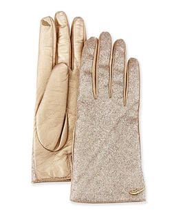 Diane Von Furstenberg  - Glitterati Leather Gloves