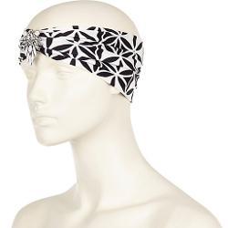 White Geo  - Embellished Turban-style Headband