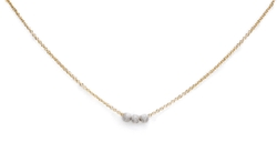 Dogeared - Three Wishes Silver Stardust Bead Necklace
