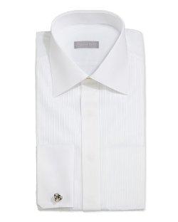 Stefano Ricci   - Tonal-Stripe Tuxedo Shirt