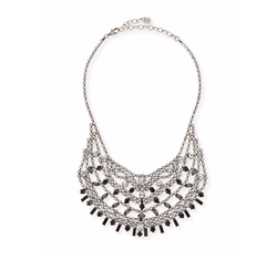 Dannijo - Steinem Jet Crystal Bib Necklace