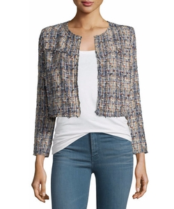 IRO - Hella Frayed-Trim Cropped Tweed Jacket