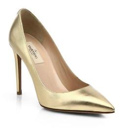 Valentino  - Metallic Leather Pumps
