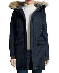 Spiewak - Fur-Hood Mid-Length Parka Jacket
