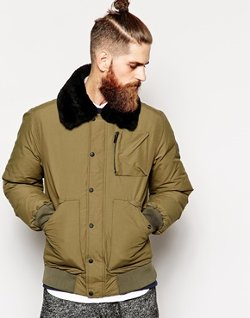 Penfield  - Greenhill Shearling Collar Down Bomber Jacket
