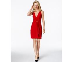 Michael Michael Kors  - Sleeveless Draped Surplice Dress
