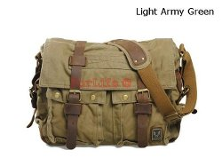 For LIfe - Leather School Military Shoulder Bag