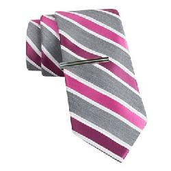 J. Ferrar - Heathered Stripe Slim Tie