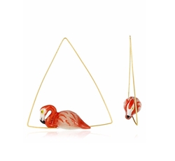 Nach - Flamingo Triangle Hoop Earrings