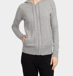 White & Warren - Essential Cashmere Zip Hoodie