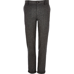 River Island - Donegal Wool-Blend Skinny Pants