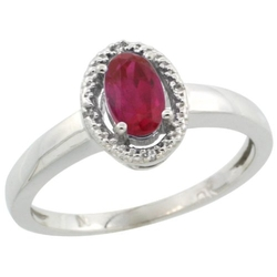 Gabriella Gold - Oval Cut Stone Ruby Ring
