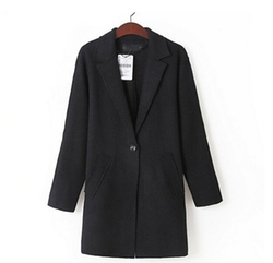 Wiipu - Wool Blend Long Jacket Coat Blazer