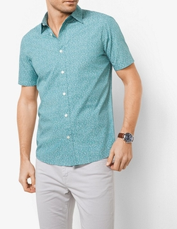 Michael Kors Mens  - Tailored/Classic-Fit Cotton Shirt