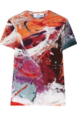 Prabal Gurung  - Printed Stretch-Jersey T-Shirt