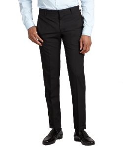 Prada - Black Wool Flat Front Pants