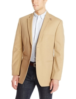 Haggar  - Solid Cotton Two-Button Side Vent Sport Coat