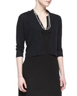 Eileen Fisher  - 3/4-Sleeve Cropped Cardigan, Petite