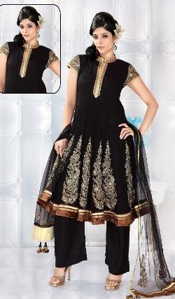 Indian Fashion Trend - Indian Net Salwar Kameez