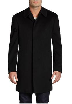 Saks Fifth Avenue Black - Wool Topcoat