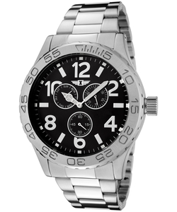 I By Invicta - Silver-Tone Black Dial Watch